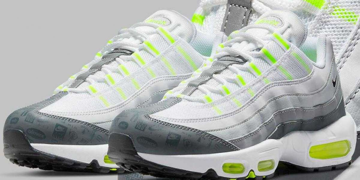 Nike Air Max 95 White Grey Neon Volt is Best Awesome Sneakers this Week