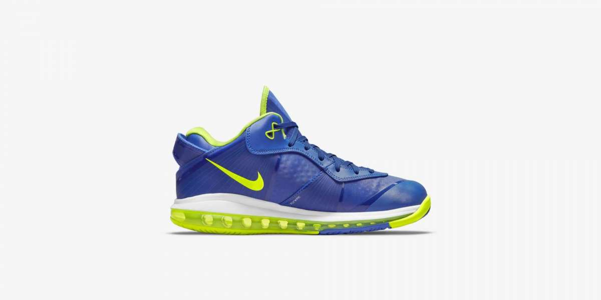 "2021 New Nike LeBron 8 V2 Low ""Sprite"" Treasure Blue/White-Black-Volt DN1581-400 Hot Sell !"